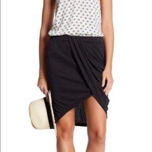 Splendid draped ribbed mini skirt NWT